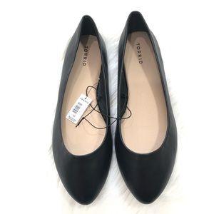 Torrid Black Almond Toe Ballet Flats
